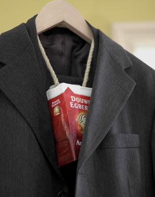Kleren met geur voor mannen, geurblokken, pak, koffie