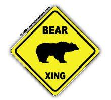 ontberen sign bear xing